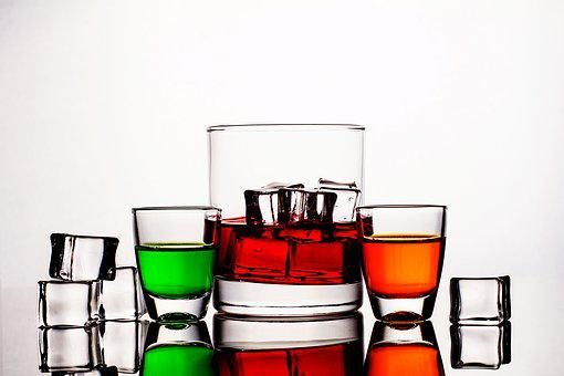 Glass, Liquid, Beverage, Cold, Drink, Red, Refreshment