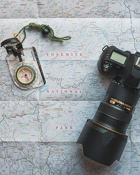 Camera, Compass, Exploration, Guidance, Lens, Map