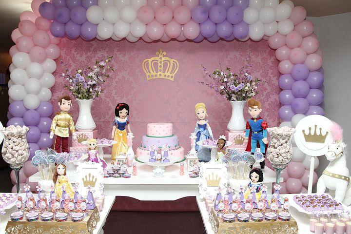 Day, Princess, Birthday, Party, Children, Girls, Theme