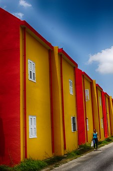 Curacao, Colorful, Summer, Colored Houses