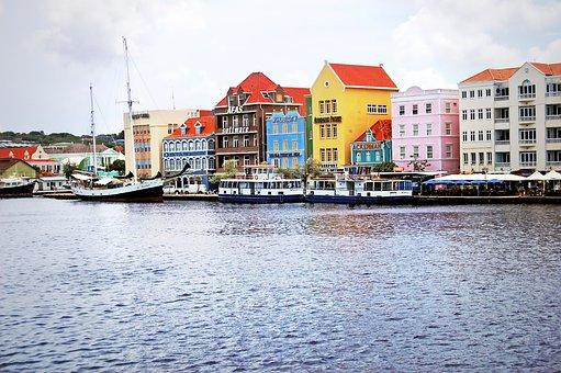 Antilles, Curacao, Willemstad, Landscape, Houses