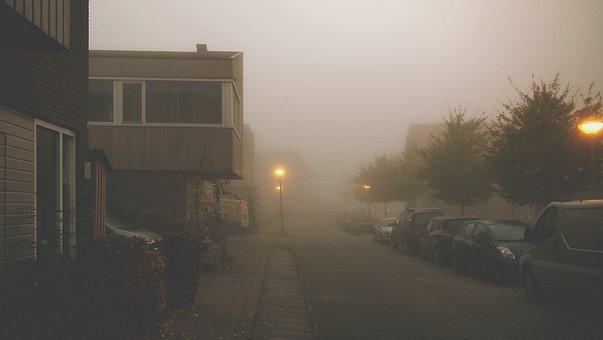 Mist, Dusk, City, Misty, Weather, Autumn, Dull, Urban