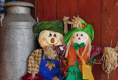Scarecrow, Doll, Garden, Farm, Straw, Rural, Harvest