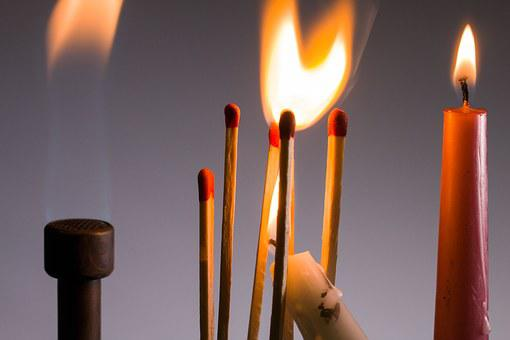Flame, Matches, Ignition, Sticks, Candles, Light
