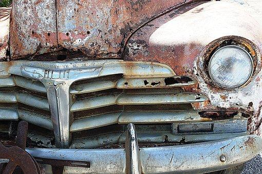Oldtimer, Car Wreck, Vintage, Automotive, Classic Car