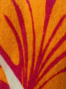 Fabric, Texture, Textile, Orange, Red, White