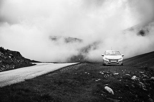 Mountain, Car, Peugeot, 208, Travel, Road, Roadtrip