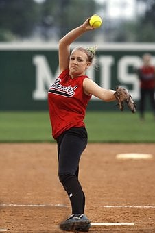 Softball, Pitcher, Female, Action, Pitching