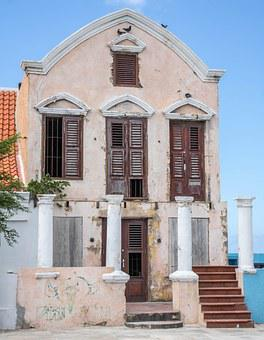 Curacao, Willemstad, Building, Old, Abandoned, Antilles