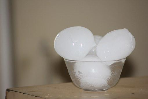 Ice Cubes, Ice, Bowl, Cold, Solid, Freeze, Melting