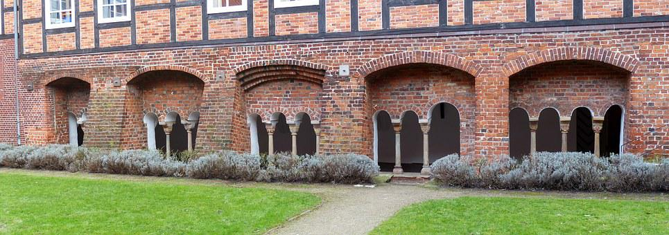 Verden Of All, Dom, Church, Columnar, Courtyard
