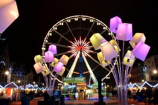 Big Wheel, Atmosphere, Lamps, Light, Lighting