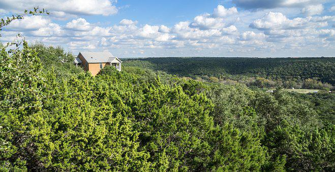 Scenic, Treetops, Landscape, Sky, Trees, Clouds