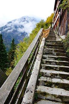 Hallstatt, Stairs, Walk, Nature, Landscape, Travel