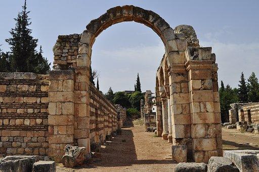 Lebanon, Ruins, Roman, Architecture, Column, Baalbek