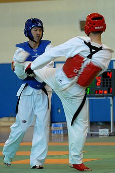 Taekwondo, Sport, Competition, Men, Males, Training