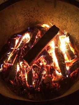 Fire, Koster, Coals, Firewood, Burn, Campfire