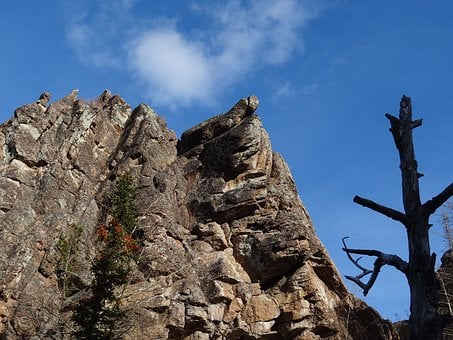 Nature, Mountains, Chinese Rock Wall, Reserve Posts
