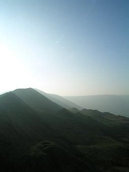 Peak District, England, Sunset, Scenic, Rural, Valley