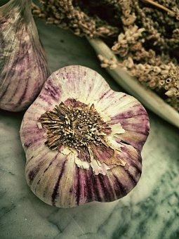Garlic, Aromatic, Smell, Mediterranean, Food, White