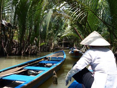 Viet Nam, Boat, Mekong