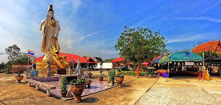 Guanyin, Temple Nophaket, Bangkok Pathum Wan, Thailand