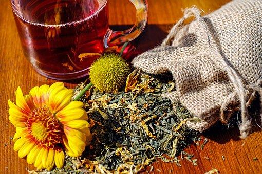 Tee, Herbs, Mix, Dried, Glass, Drink, Teatime