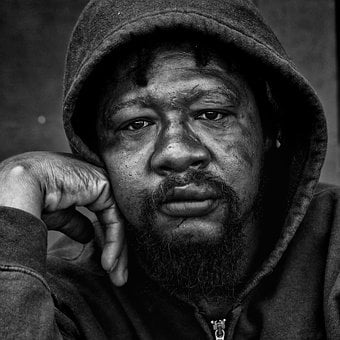 People, Portrait, Homeless, Male, High Resolution, Gaze