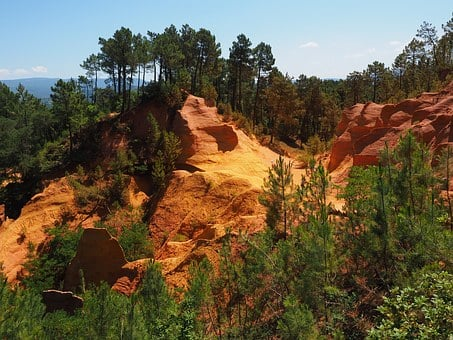 Ocher Rocks, Ocher, Roussillon, Rock