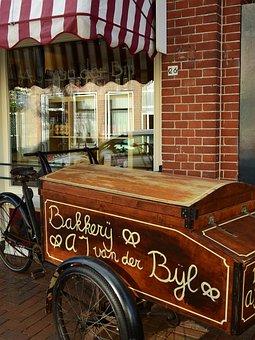 Bakery, Baker, Dare, Bike, Wheel, Bake, Food, Pastries
