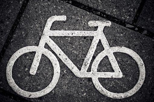 Bike, Characters, Cycle Path, Road, Bicycle Path