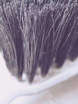 Hand Brush, Sweep, Bristles, Close, Broom, Plastic
