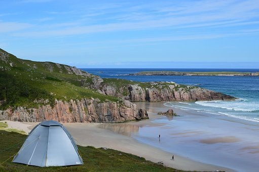 Scotland, Camping, Beach, Wild Camping, North Coast 500