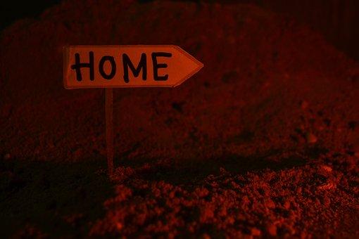Home, Sign, Plank, Direction, Back, Return, Way