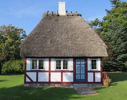 Building, Denmark, Small Fachwerkhaus