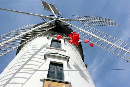 Mill, Balloons, Gifhorn, Lady Devorgilla