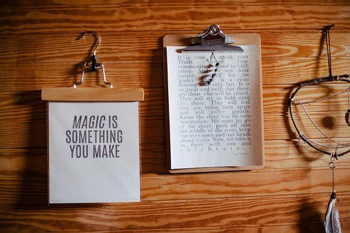 Clipboards, Papers, Text, Quotes, Letters, Wood, Grain