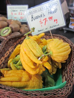 Buddha's Hand, Fruit, Citrus Medica, Fingered Citron
