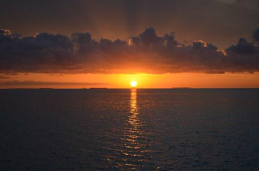 Sunset, Key West, Southern Most Point, Florida, Ocean