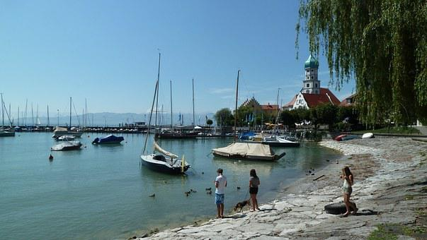 Lake Constance, Wasserburg, Baroque Church, St Georg