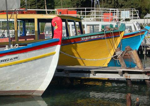Boats, Colour, Harbour, Water, Sea, Travel, Blue