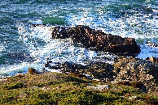 Cliffs, Mountain, Water, Coast, Cliff, Stones, Sound