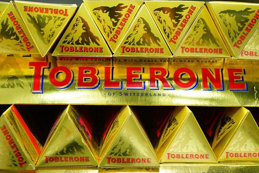 Toblerone, Chocolate, Sweetness, Packed, Shine, Golden
