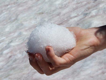 Melt, Melting, Snow, Ball, Snowball, Hold