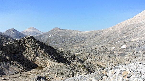 Lefka Ori, Mountains, Desert, Dry, Crete, Greece