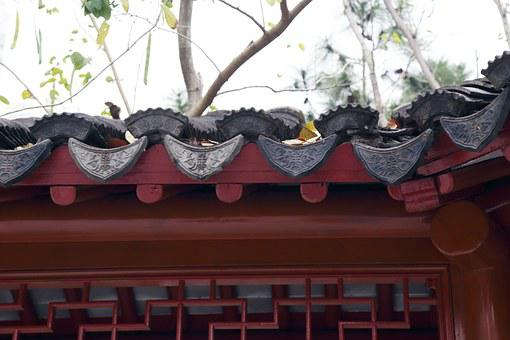 China Wind, Autumn, Antiquity, Roof Decorations