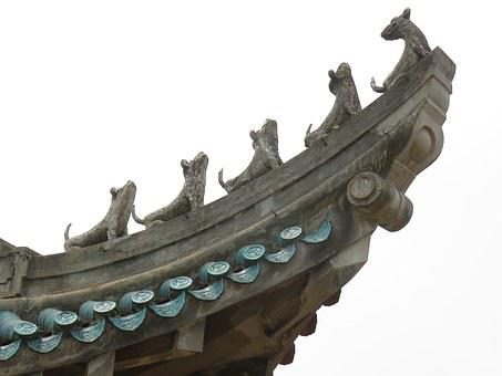 China Wind, Building, Eaves, Roof, Asian Style, Temple