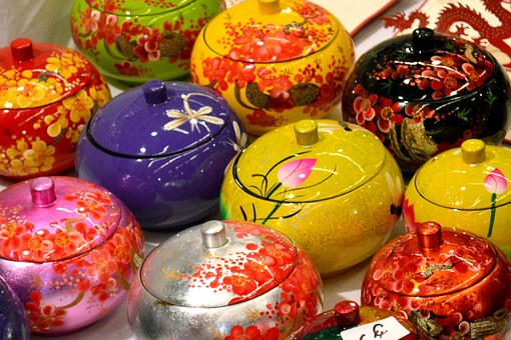 Oriental Fair, Thailand, Vases Coloured