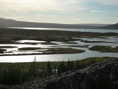 Iceland, Nature, Landscape, Tectonic Plate Warp