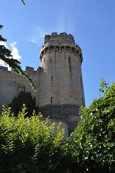 Castle, Tower, Warwick, Uk, England, British, Medieval